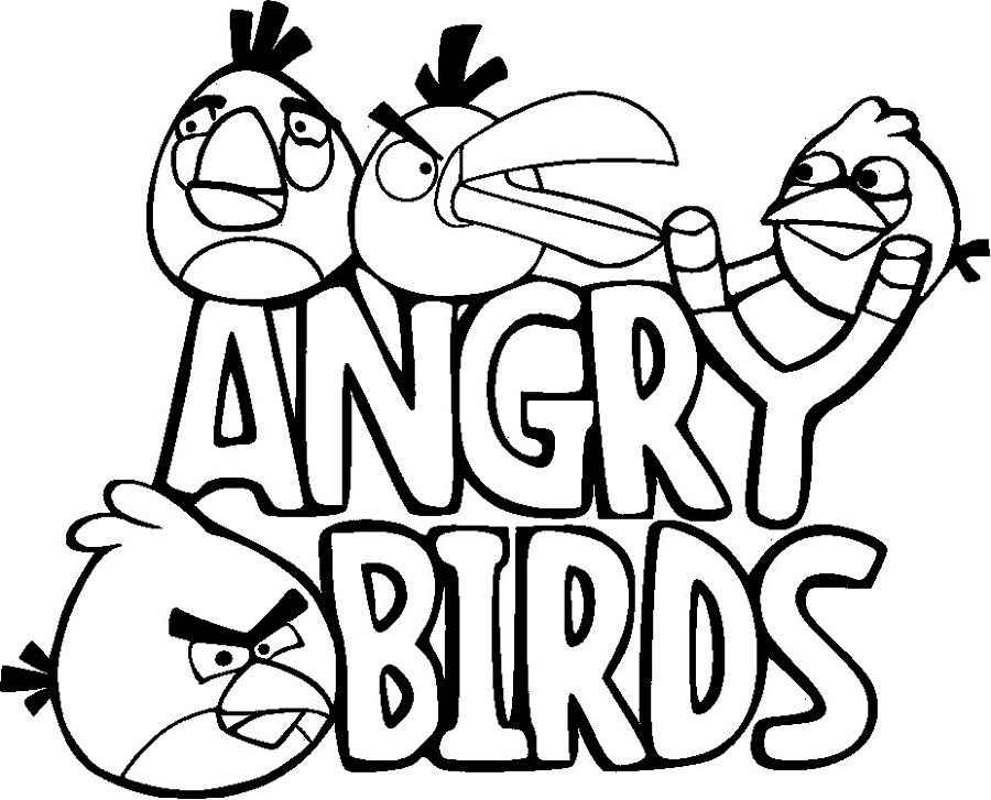 Free Childrens Colouring Angry