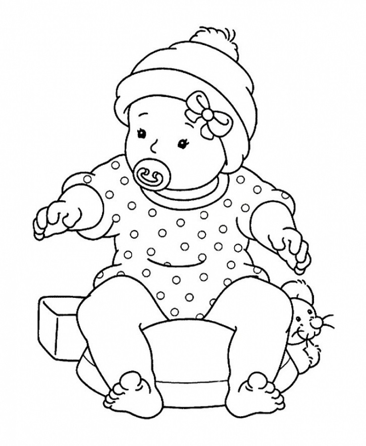 Free Childrens Colouring Baby
