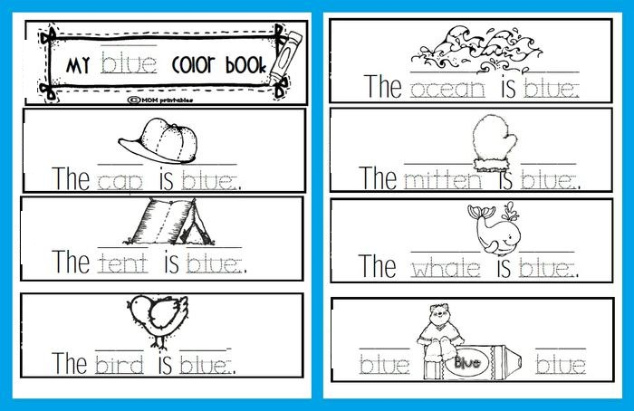 Printable Preschool Books Color