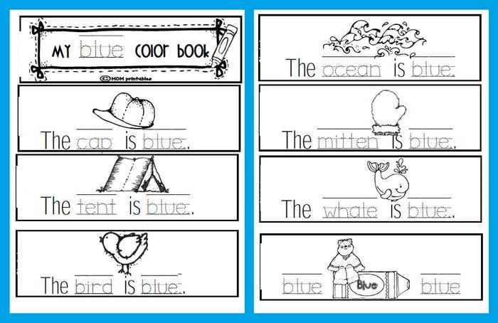 Printable Preschool Books Color