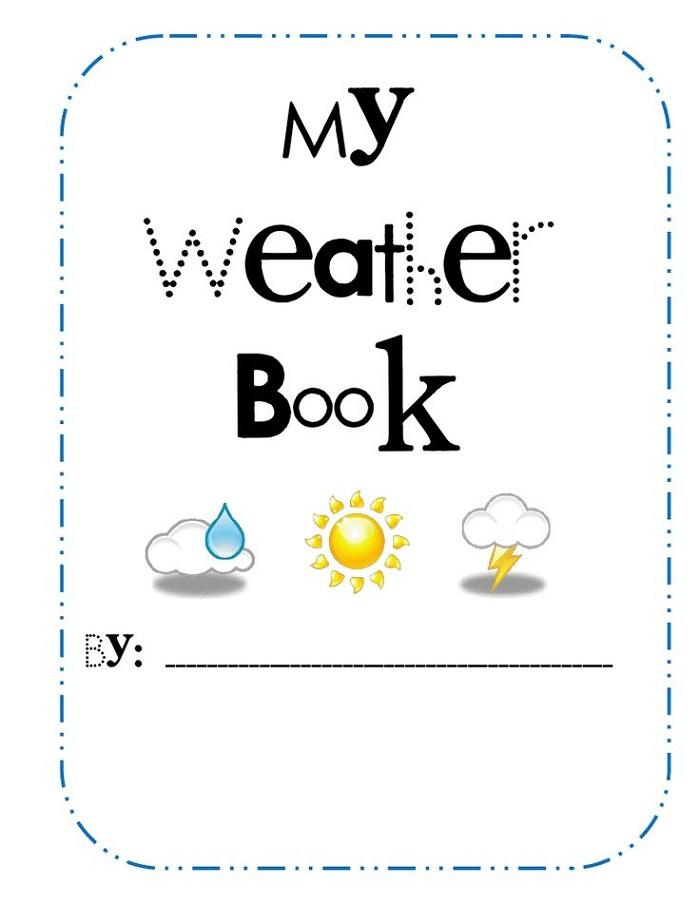 Printable Preschool Books Weather