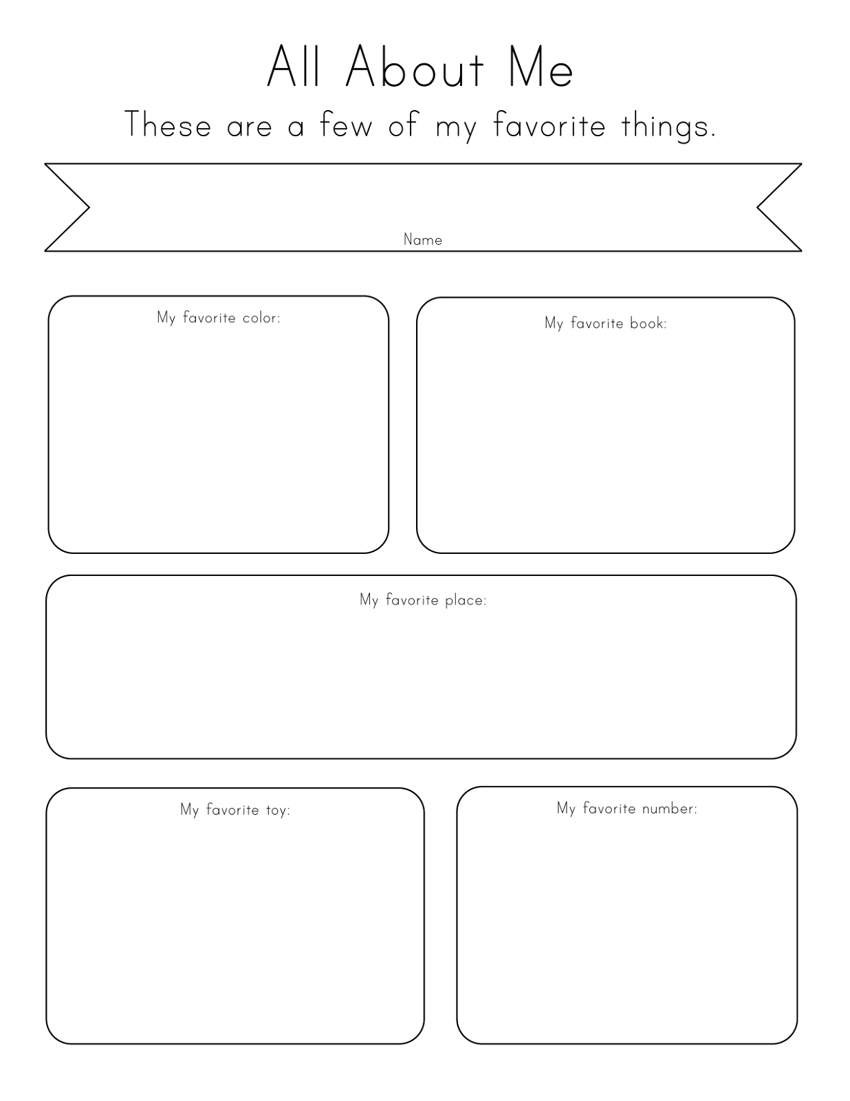 Toddler Printables About