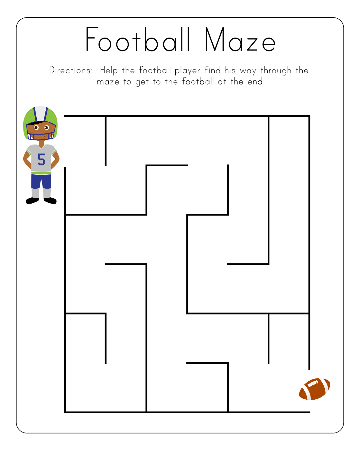 Toddler Printables Football