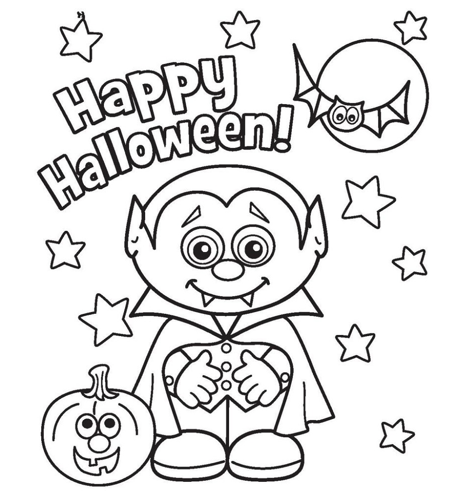 Free Coloring Book Pages Halloween