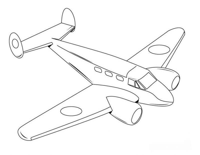 Free Printable for Kids Plane