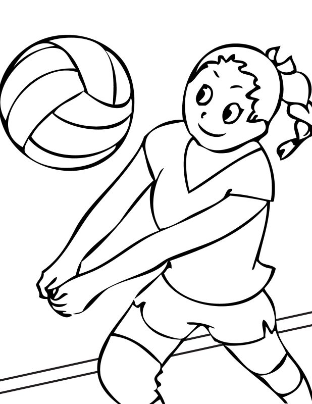 Free Printable for Kids Volley