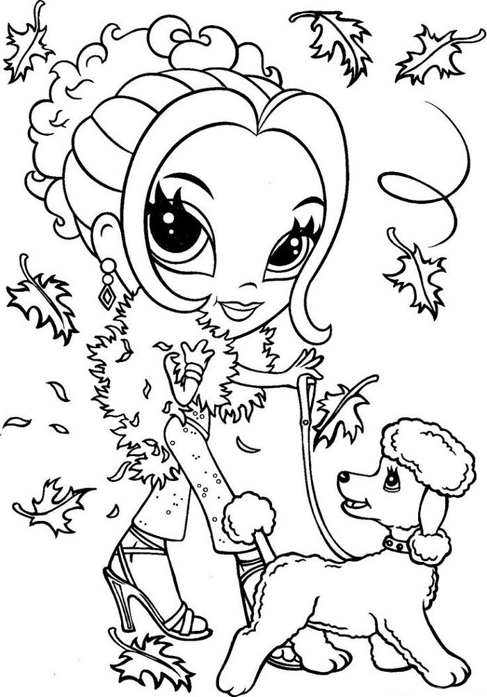 Coloring Pages to Color Online Girls