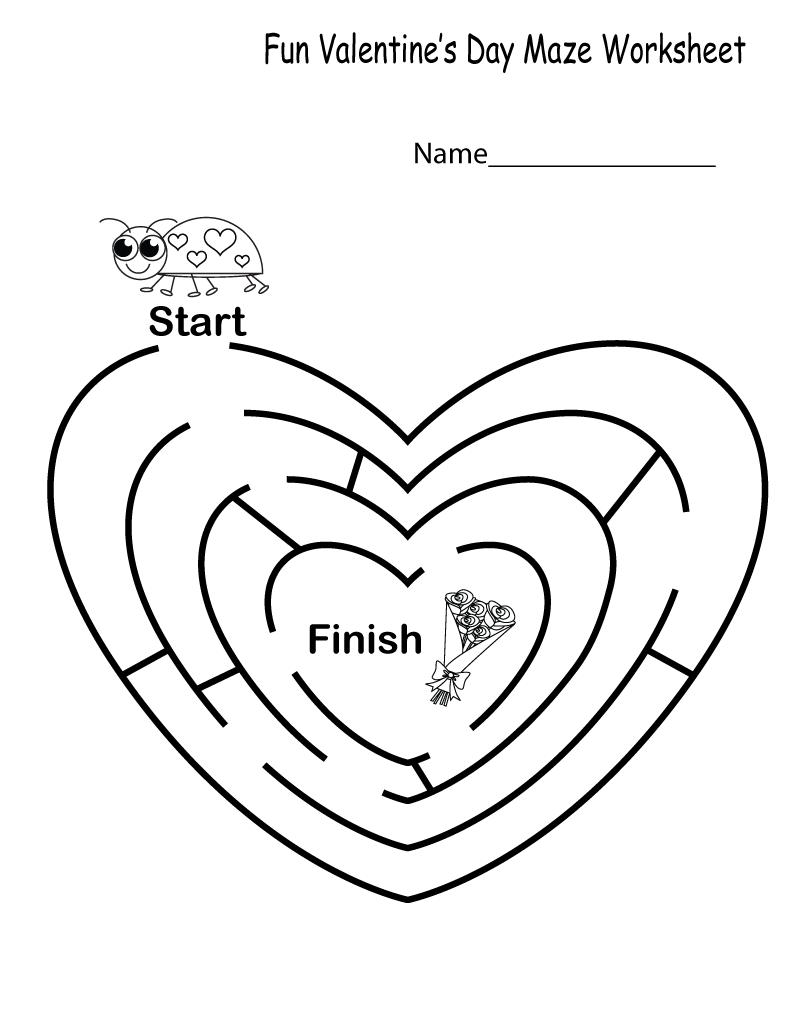 Fun Printable Worksheets Kindergarten
