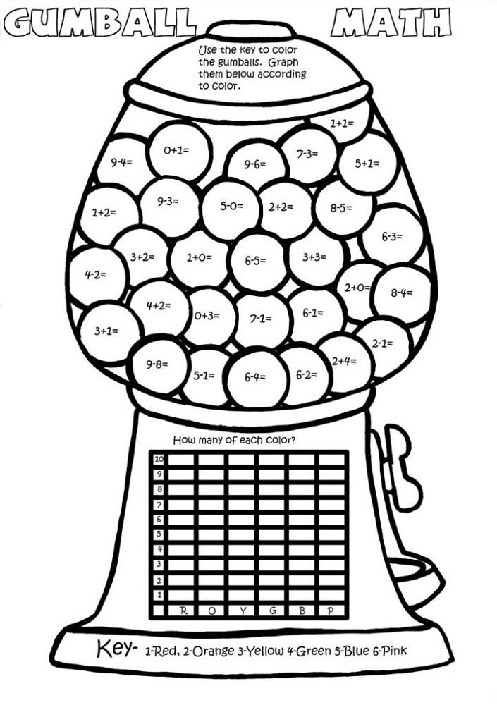 Maths Activity Sheets Gumball