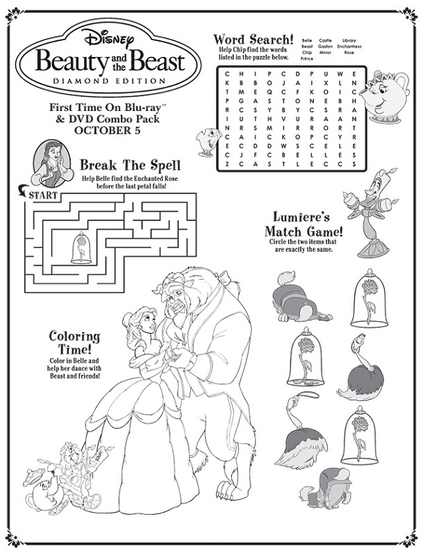 Printable Activity Sheets Disney