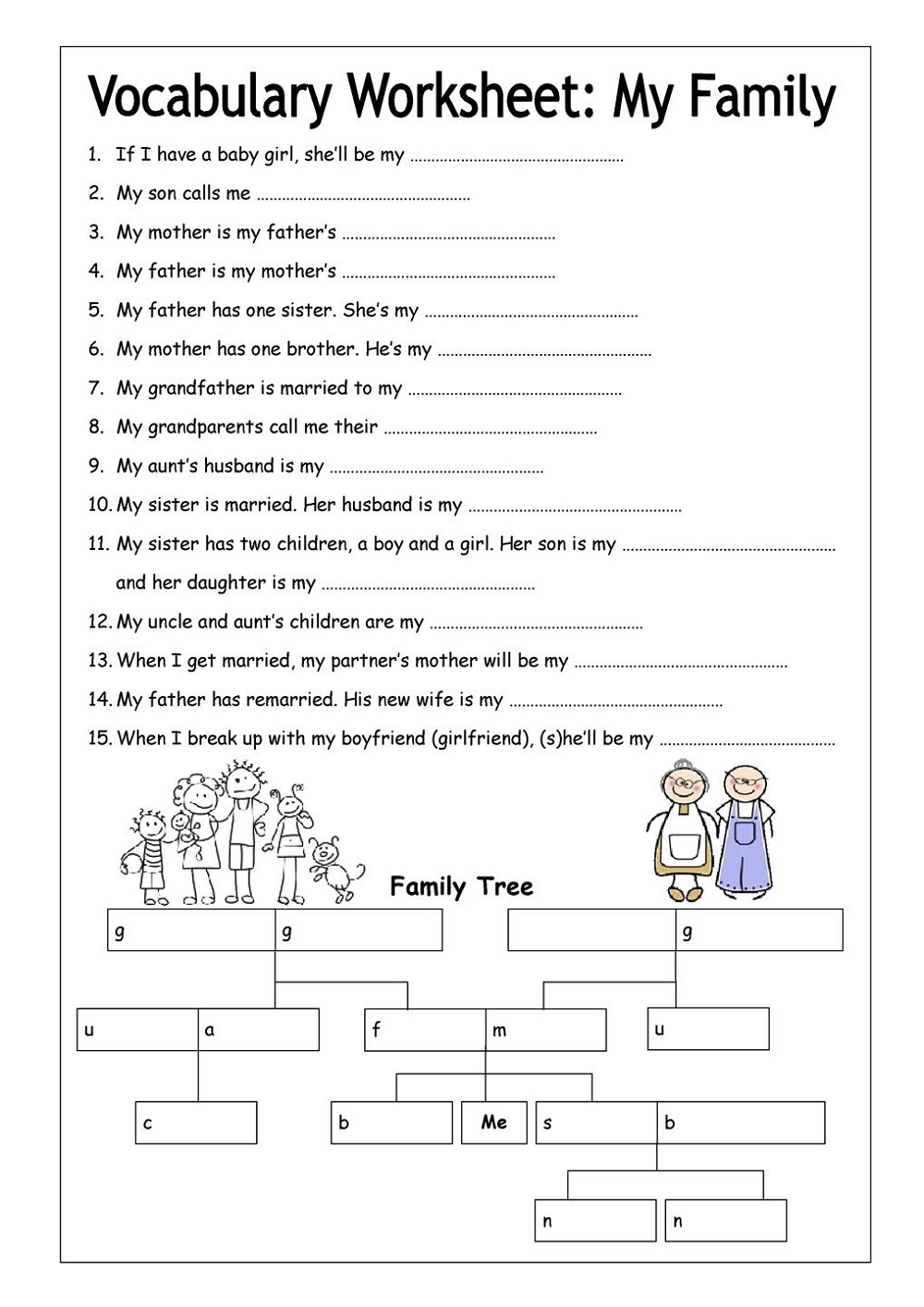 School Worksheets for Adult