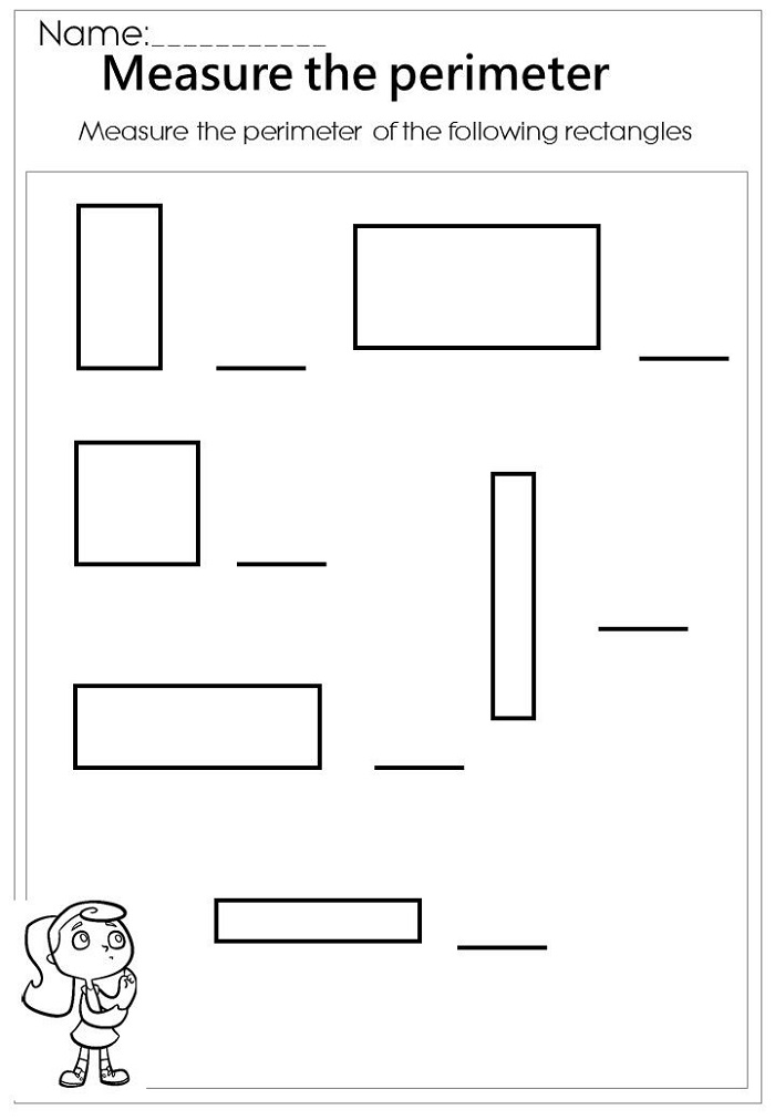 Maths Worksheet Site Perimeter