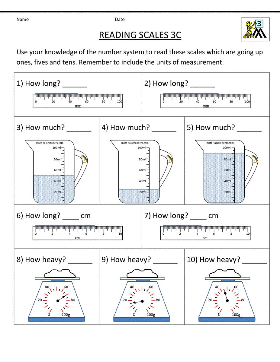 Printable worksheets for 3rd grade