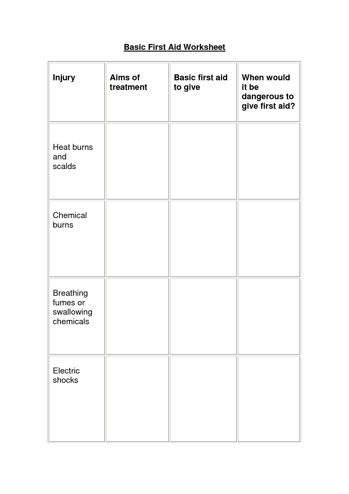 Student Worksheet Basic