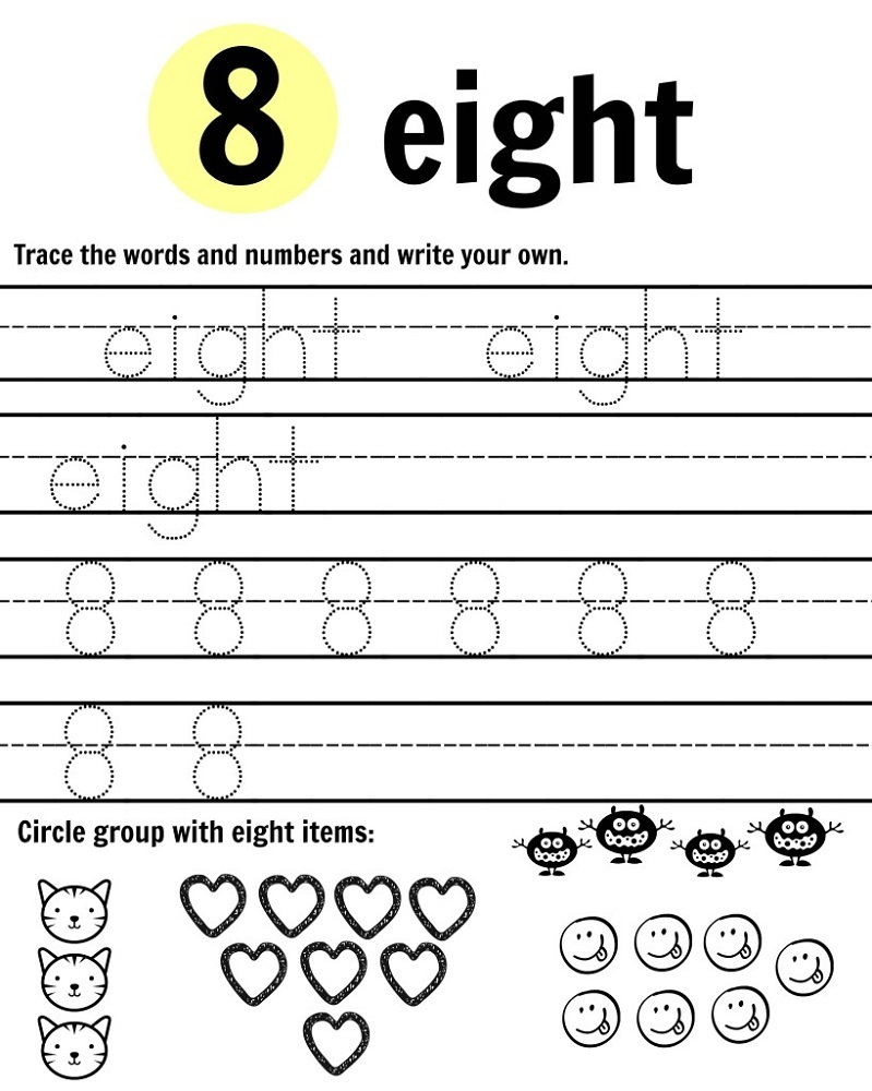 Worksheets to Print Eight