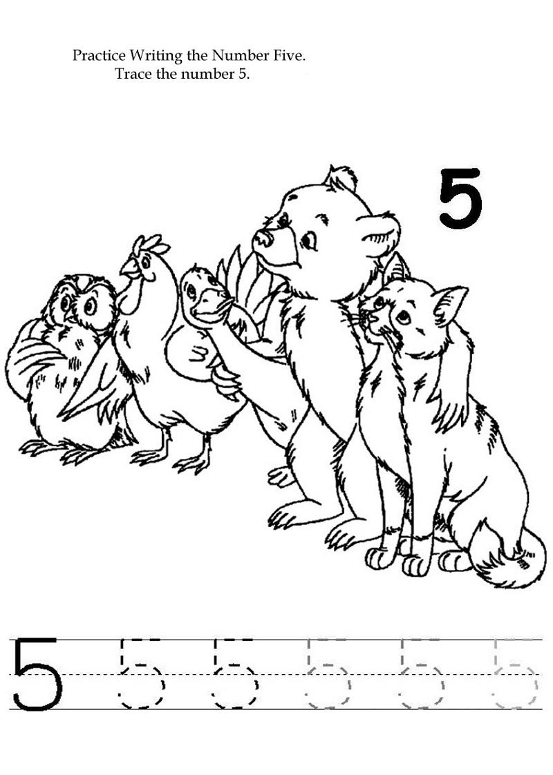 5 worksheet for kindergarten fun