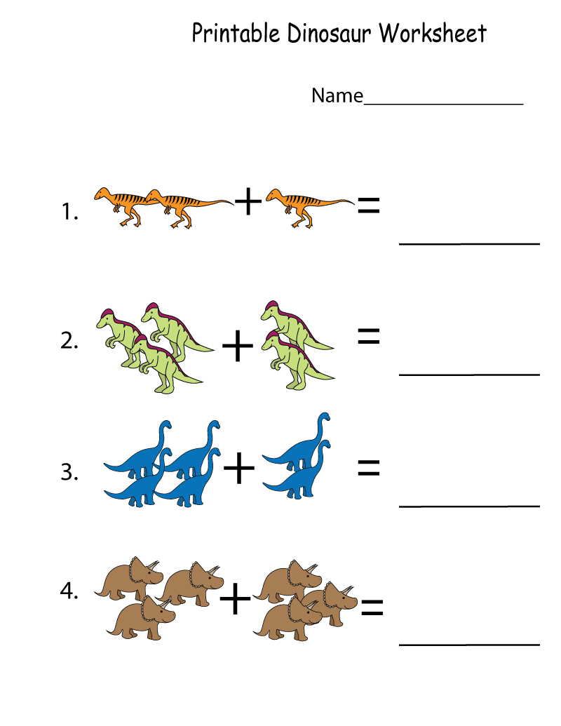 Free Printable Activities Dinosaur