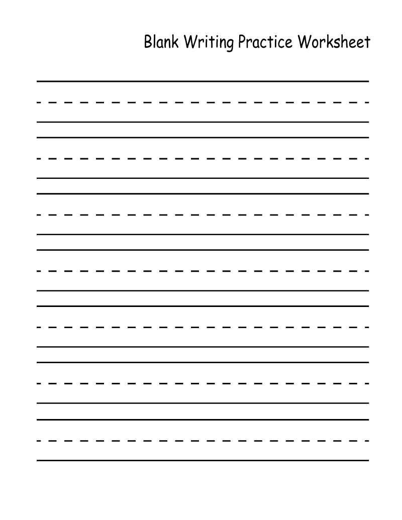 Practice Worksheet Blank