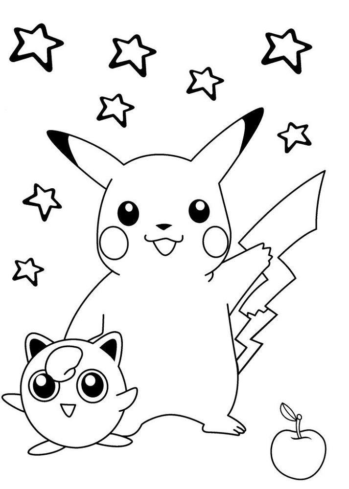 Print Out for Kids Pikachu