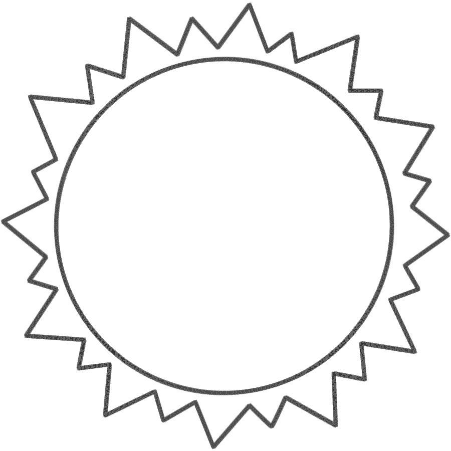 Print Out for Kids Sun