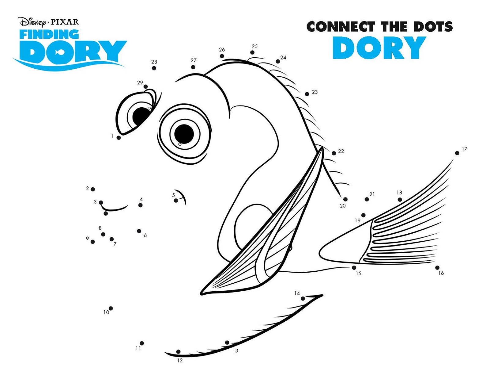 Printable Activity Pages Dory