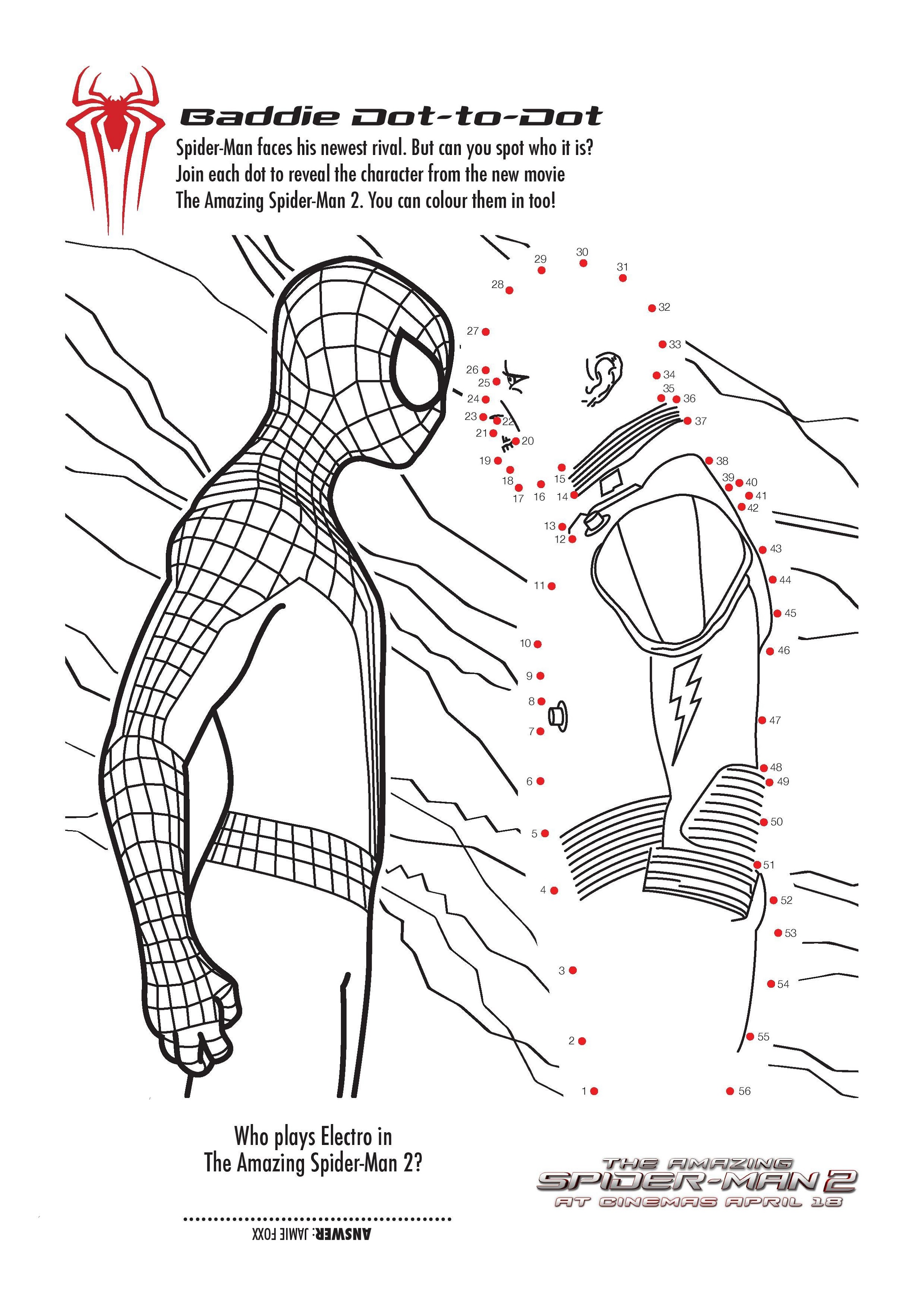 Printable Activity Pages Spiderman
