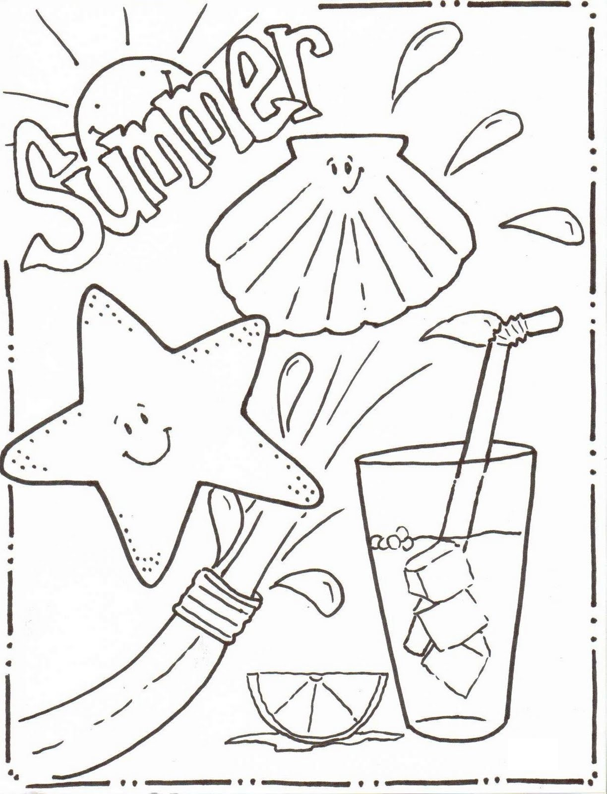 Summer Activity Page