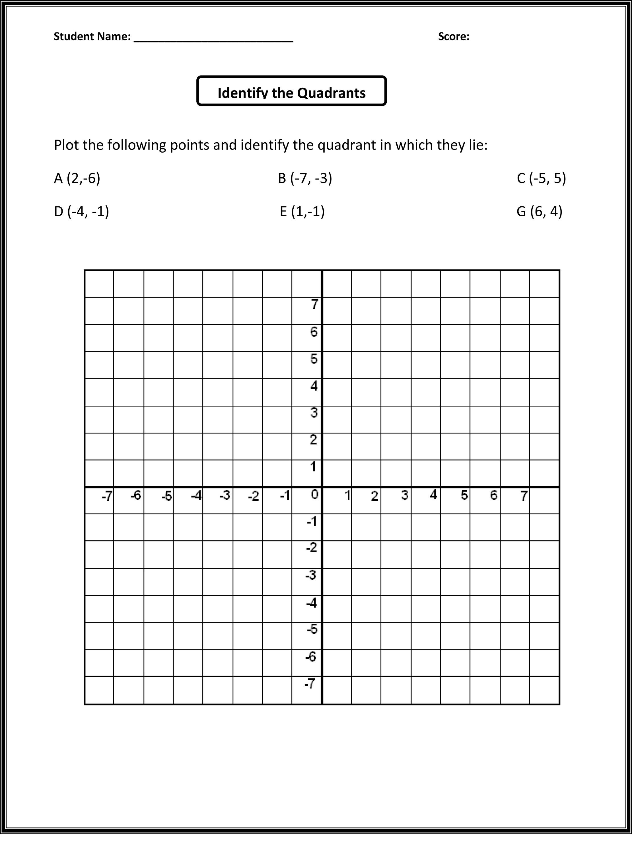 Worksheet Works Coordinate