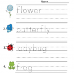 Worksheet Works for Kids