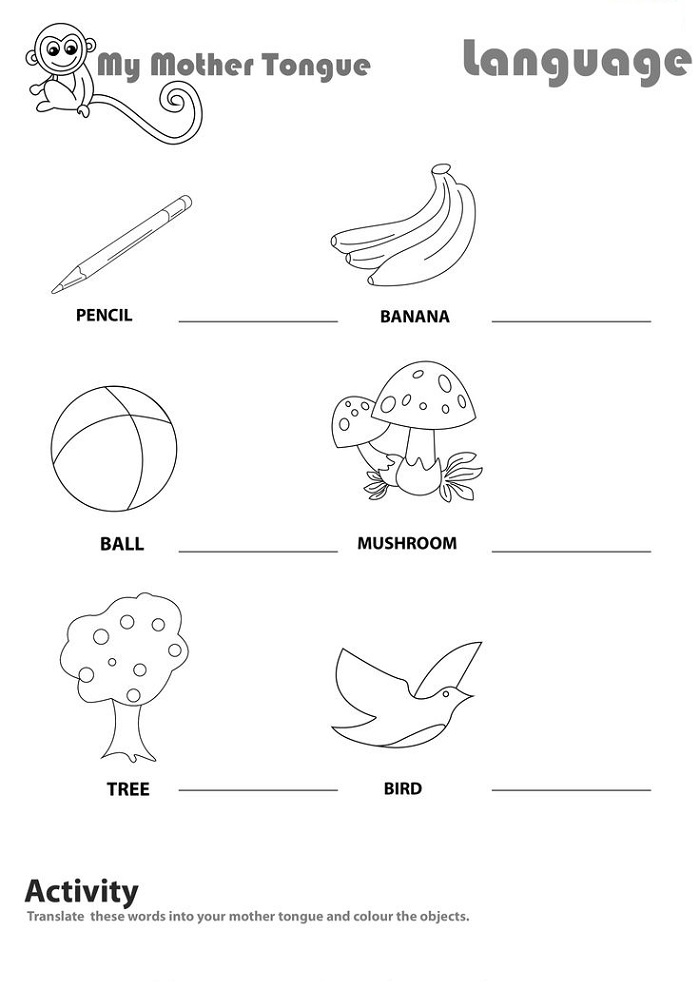 Worksheet for Kids English