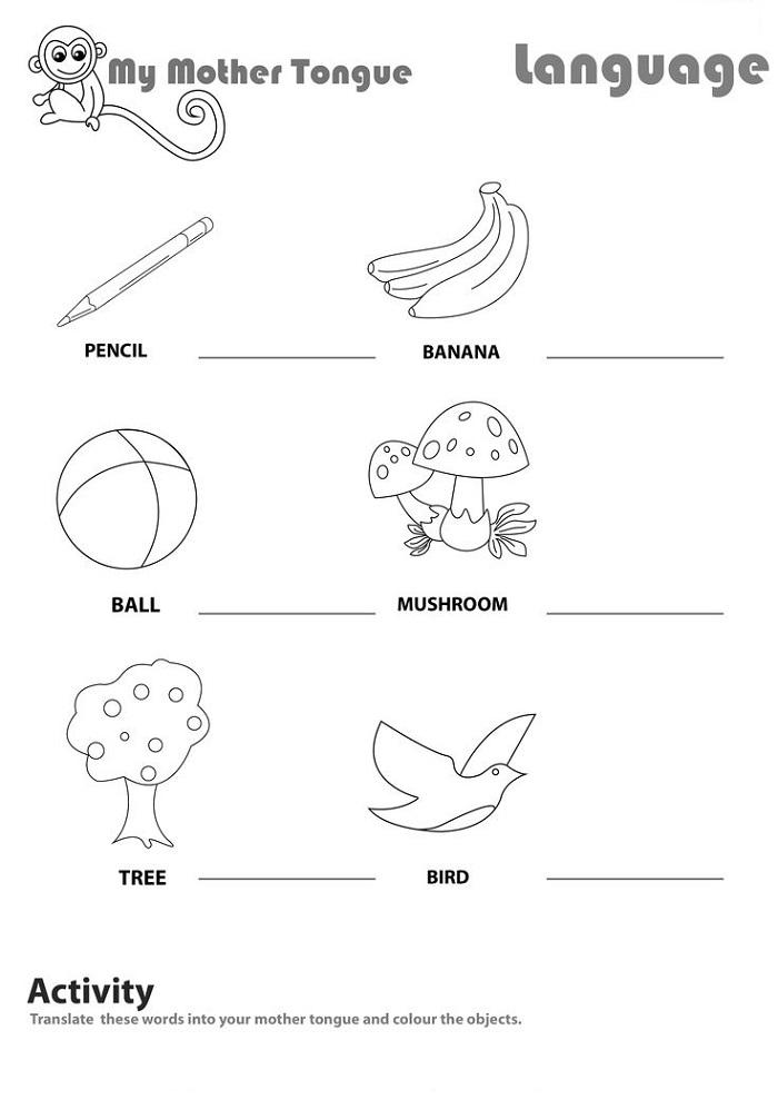 Worksheet for Kids English