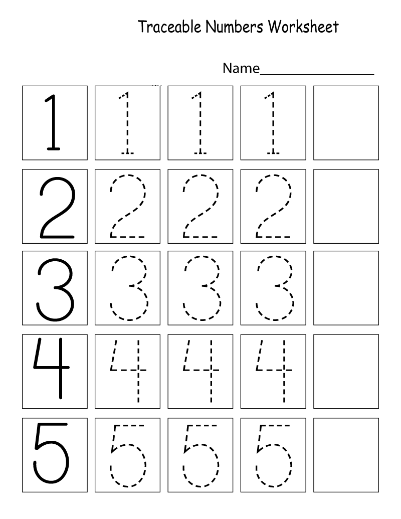 Worksheet for Kids Number
