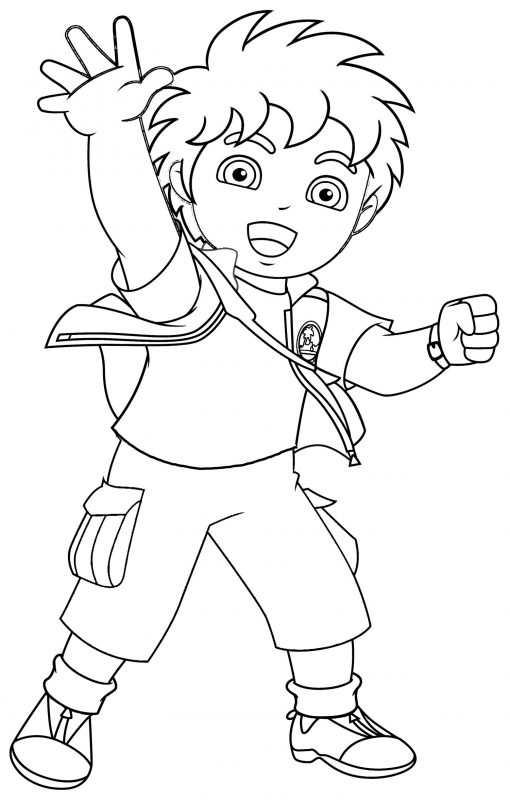 Free Printable Coloring Sheets for Kids Diego