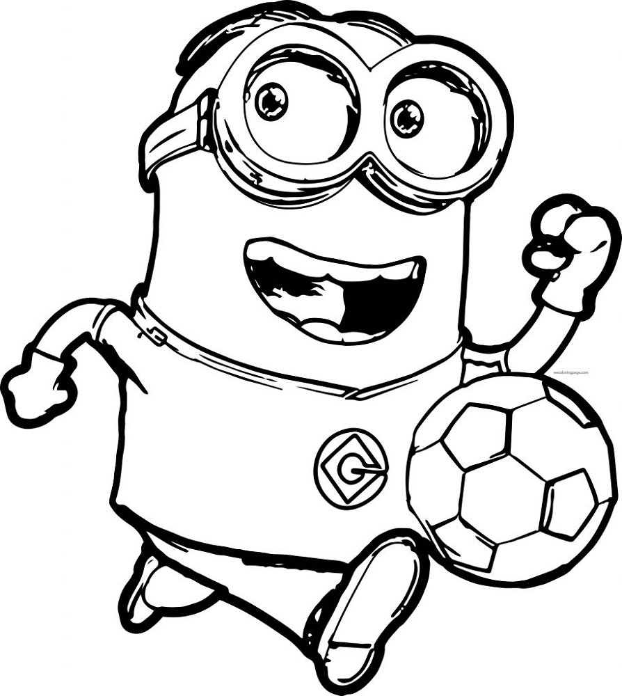 Free Printable Coloring for Kids Minion