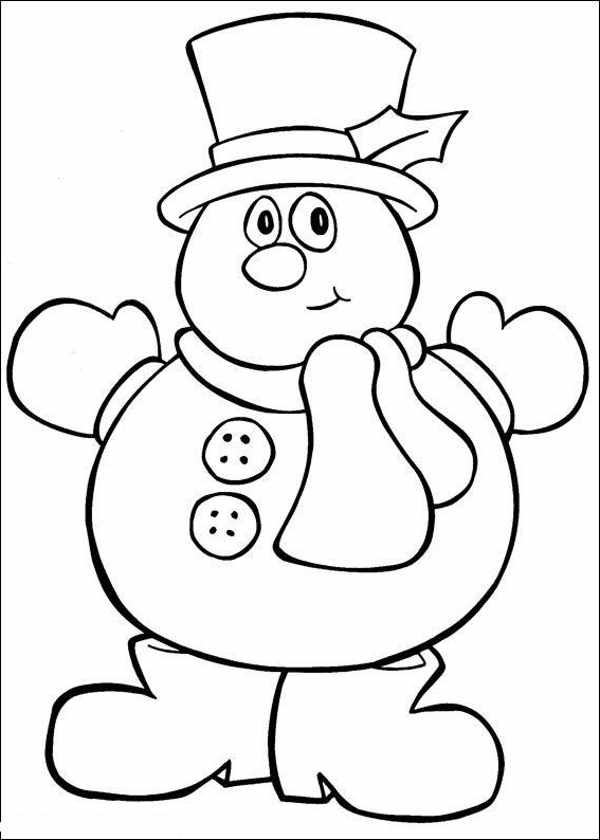 Printable Coloring Pictures for Kids Christmas