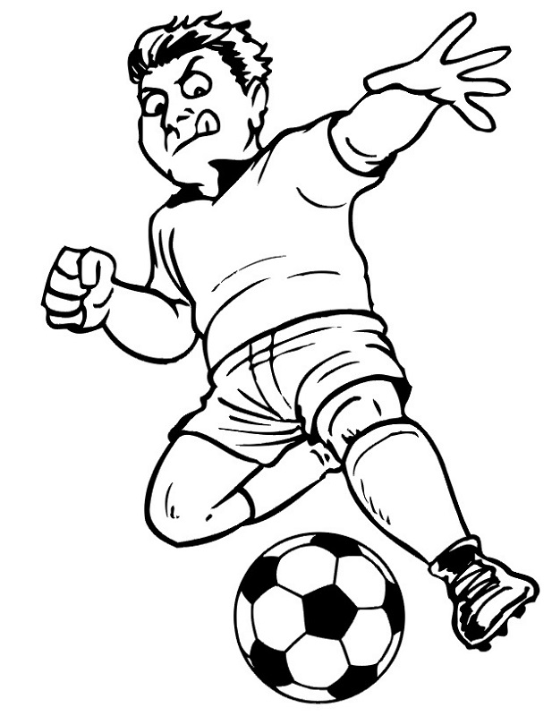 Printable Coloring Pictures for Kids Soccer