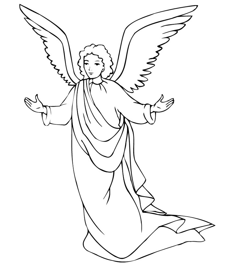 Coloring Book Pictures Angel