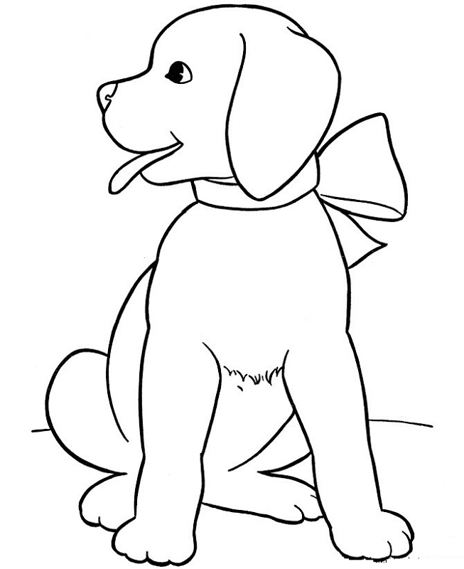 Printable Coloring for Kids Dog