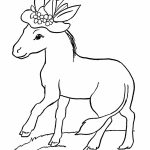 Printable Coloring for Kids Donkey