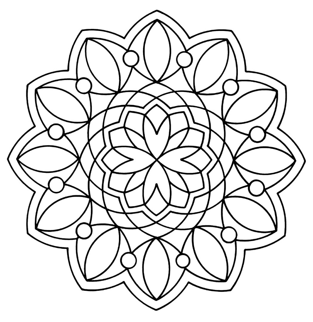 Printable Coloring for Kids Geometric