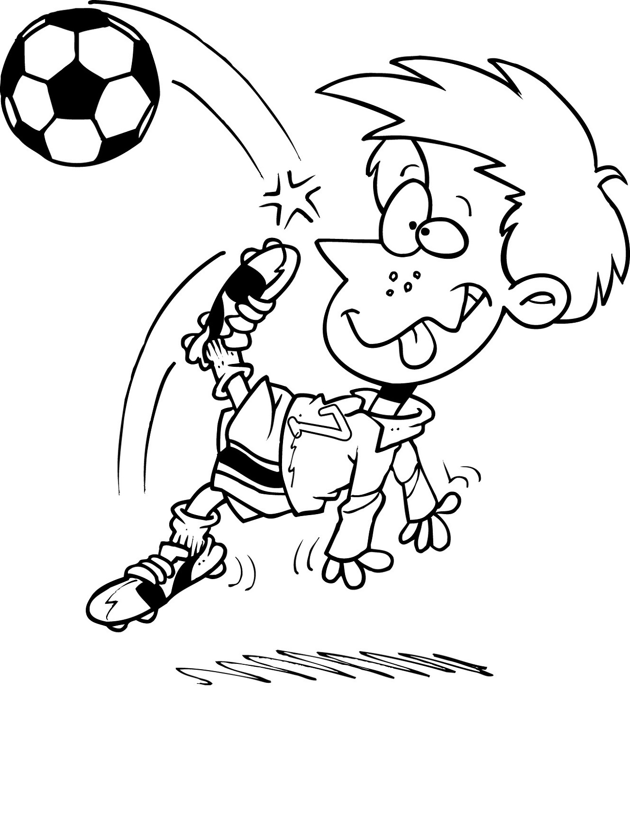 Printable Coloring for Kids Soccer