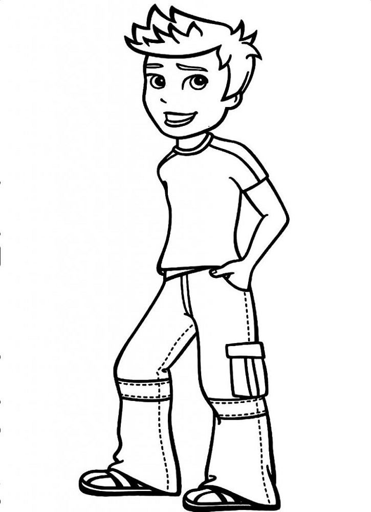 Color Template for Boy