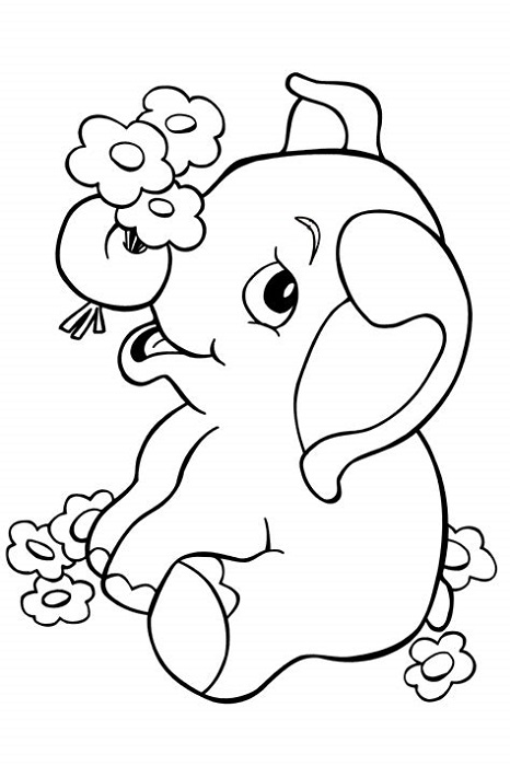 Coloring Book Website Elephant