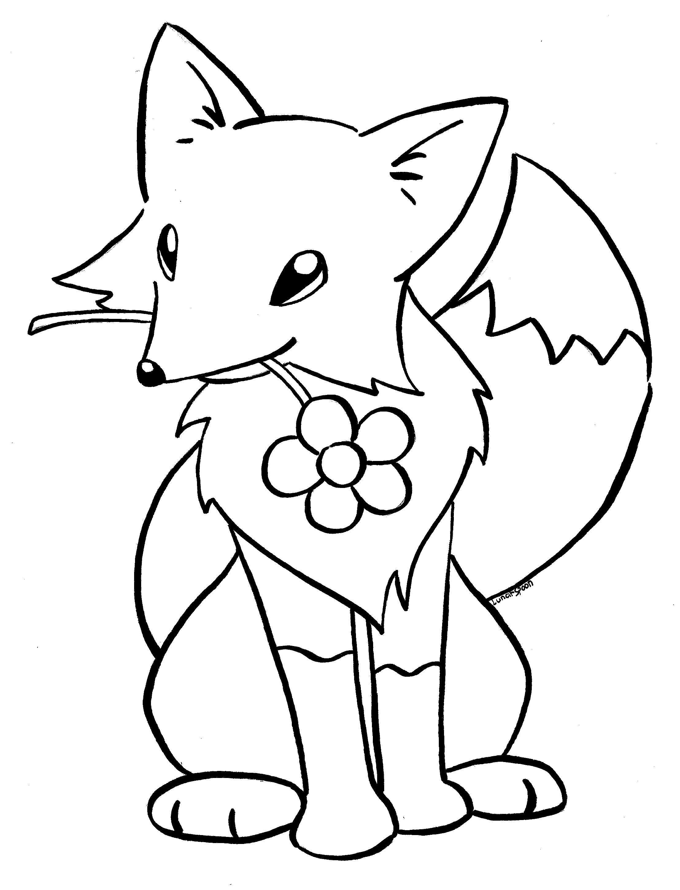 Coloring a Book Kitsune