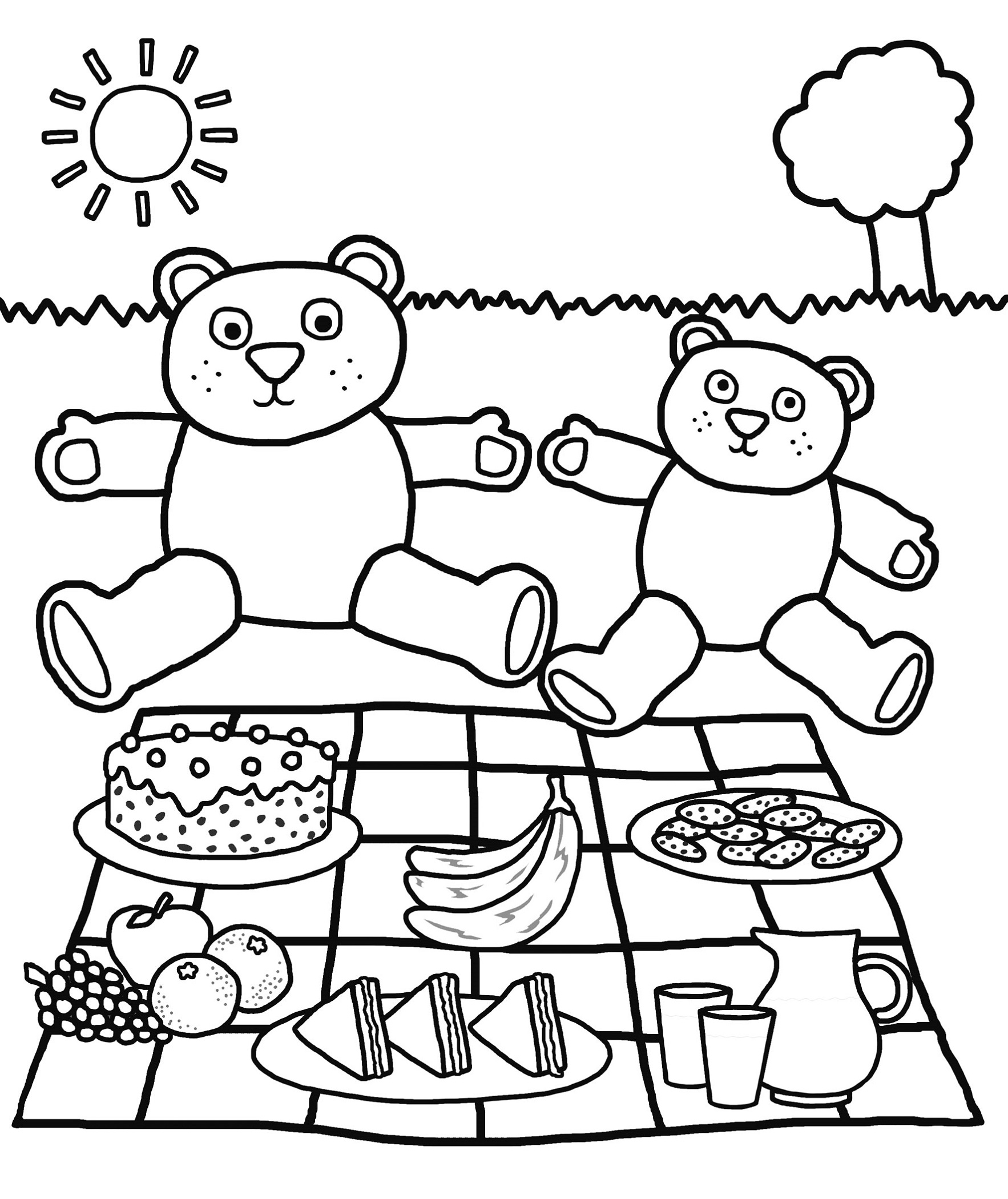 Free Printable Coloring Sheets for Kindergarten