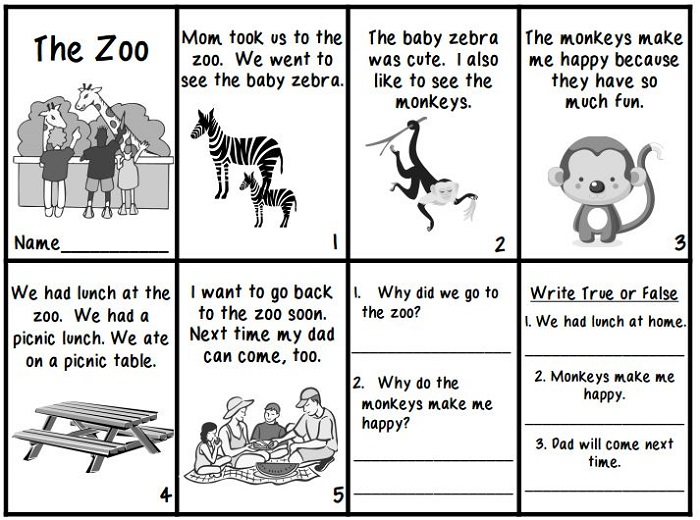 Printable Books for Kids Zoo