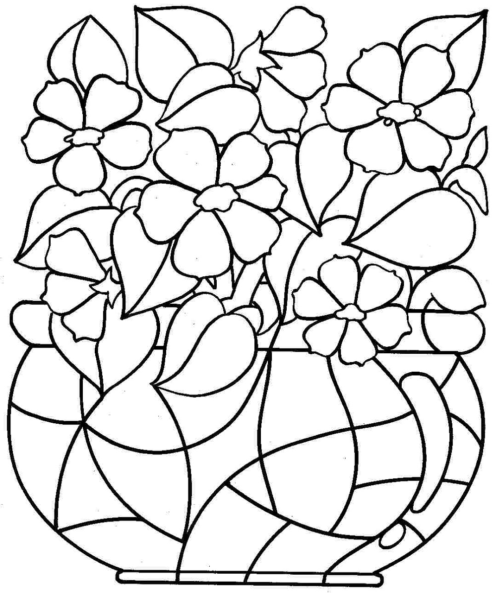 Printable Coloring Pages for Kids Flowers