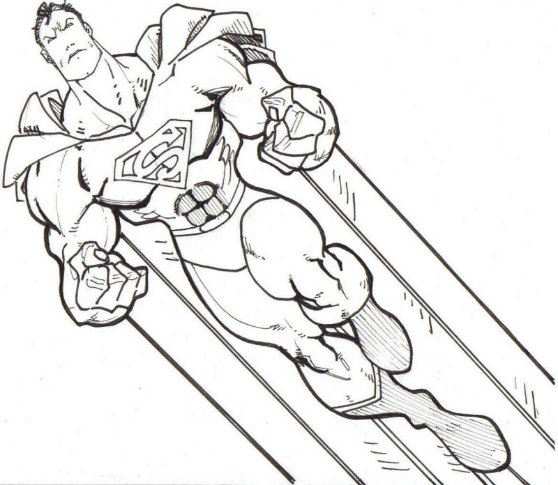 Superman Free Printable Coloring