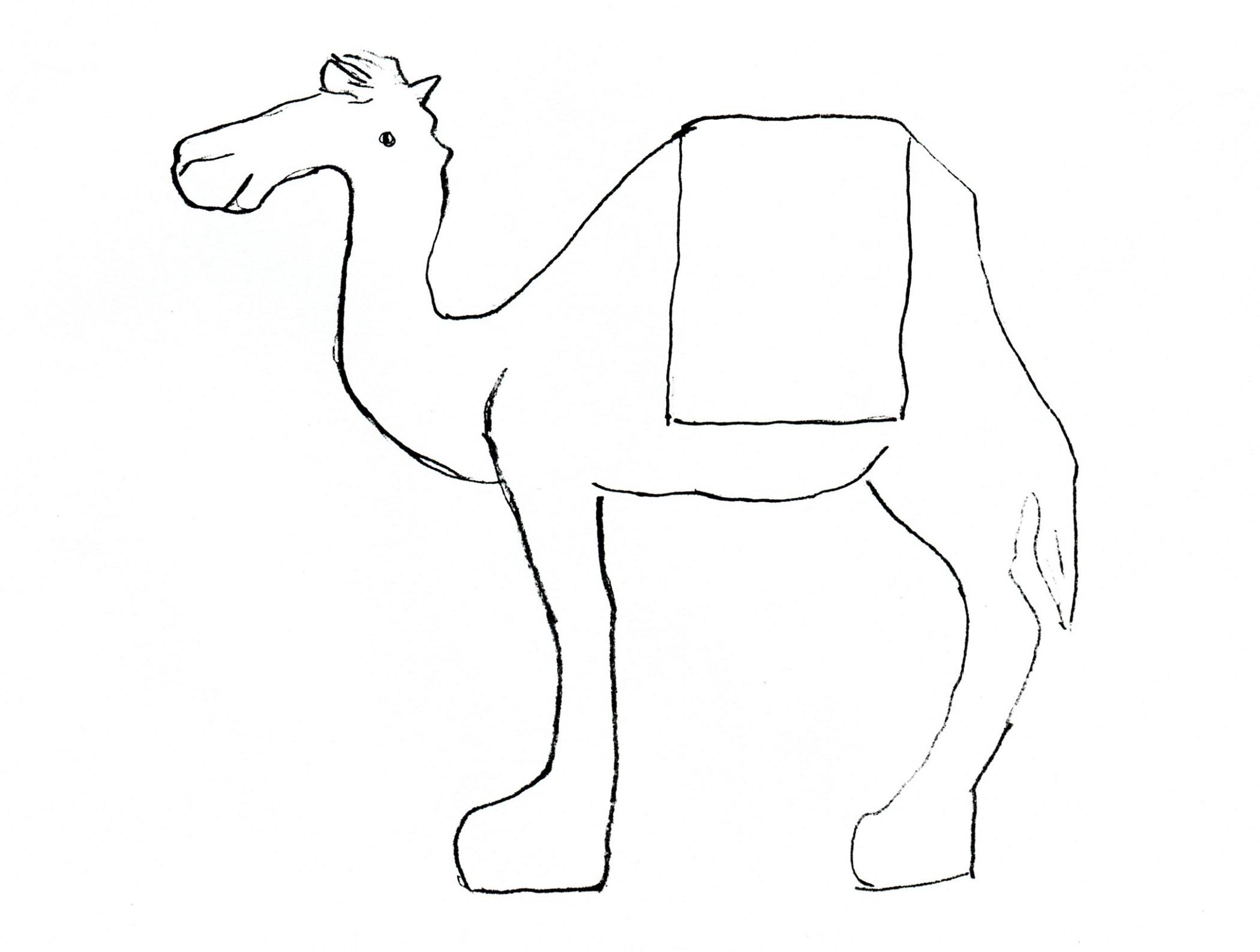 Kids Drawing Templates Camel