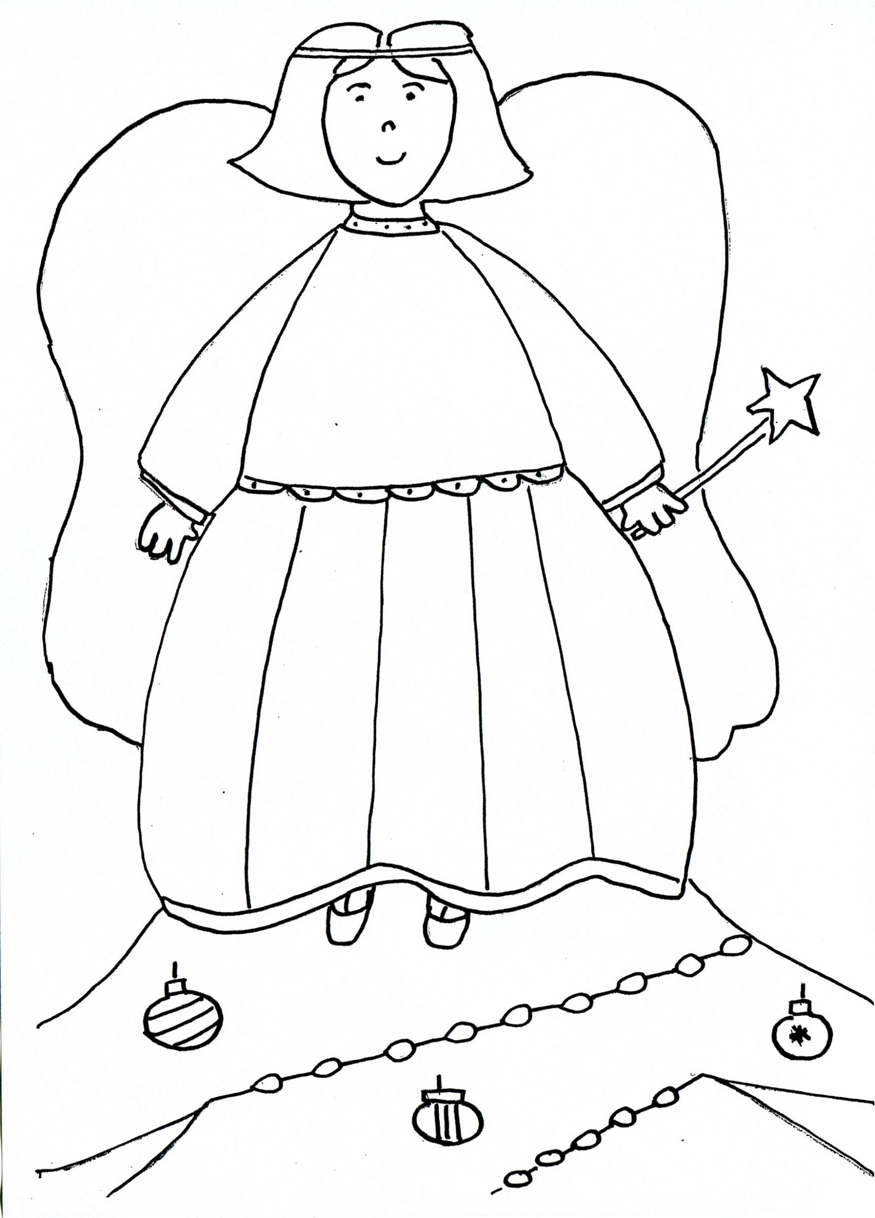 Kids Drawing Templates Christmas